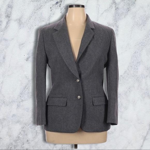 Vintage Pendleton Gray 100% Virgin Wool Blazer 12